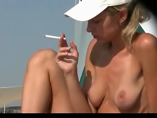 amateur beach blonde