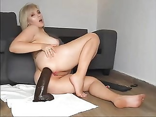 anal blonde sex toy