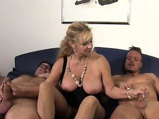 big boobs blonde gangbang